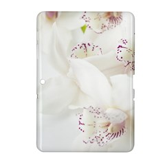 Orchids Flowers White Background Samsung Galaxy Tab 2 (10 1 ) P5100 Hardshell Case