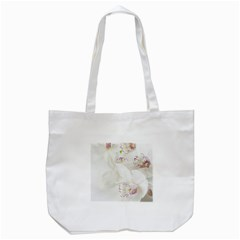 Orchids Flowers White Background Tote Bag (White)