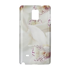 Orchids Flowers White Background Samsung Galaxy Note 4 Hardshell Case