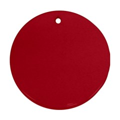 USA Flag Red Blood Red classic solid color  Ornament (Round)