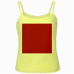 USA Flag Red Blood Red classic solid color  Yellow Spaghetti Tank