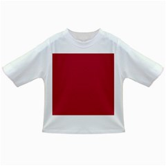 USA Flag Red Blood Red classic solid color  Infant/Toddler T-Shirts