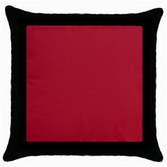 USA Flag Red Blood Red classic solid color  Throw Pillow Case (Black)