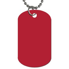 USA Flag Red Blood Red classic solid color  Dog Tag (One Side)