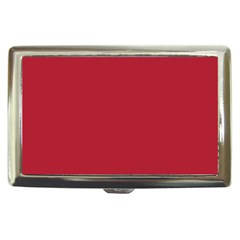 USA Flag Red Blood Red classic solid color  Cigarette Money Cases