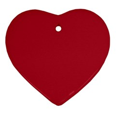 USA Flag Red Blood Red classic solid color  Heart Ornament (Two Sides)