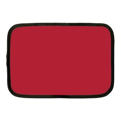 USA Flag Red Blood Red classic solid color  Netbook Case (Medium)
