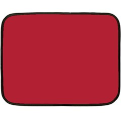 USA Flag Red Blood Red classic solid color  Double Sided Fleece Blanket (Mini)