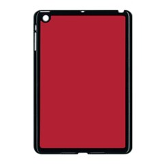 USA Flag Red Blood Red classic solid color  Apple iPad Mini Case (Black)