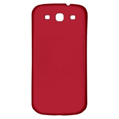 USA Flag Red Blood Red classic solid color  Samsung Galaxy S3 S III Classic Hardshell Back Case