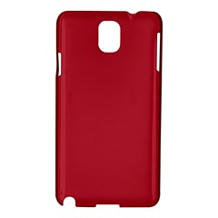 USA Flag Red Blood Red classic solid color  Samsung Galaxy Note 3 N9005 Hardshell Case