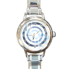 Center Centered Gears Visor Target Round Italian Charm Watch