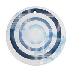 Center Centered Gears Visor Target Ornament (Round)