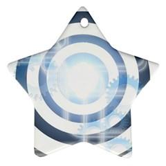 Center Centered Gears Visor Target Ornament (Star)