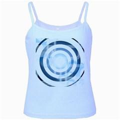 Center Centered Gears Visor Target Baby Blue Spaghetti Tank