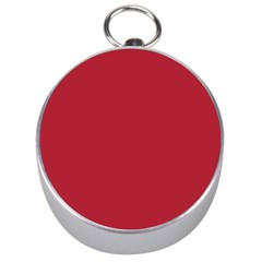 USA Flag Red Blood Red classic solid color  Silver Compasses