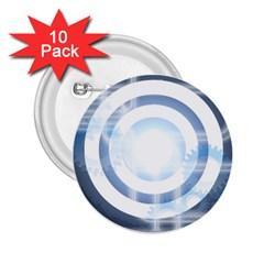 Center Centered Gears Visor Target 2.25  Buttons (10 pack)