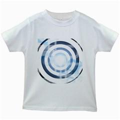 Center Centered Gears Visor Target Kids White T Shirts