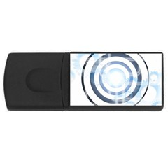 Center Centered Gears Visor Target USB Flash Drive Rectangular (1 GB)