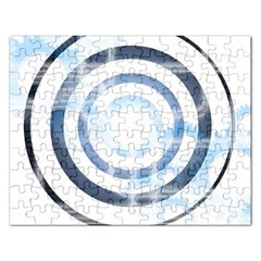 Center Centered Gears Visor Target Rectangular Jigsaw Puzzl