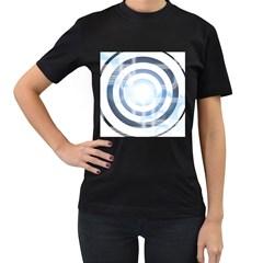 Center Centered Gears Visor Target Women s T Shirt (black) (two Sided)