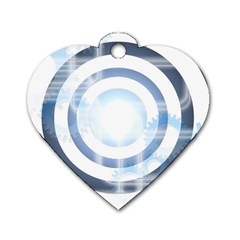 Center Centered Gears Visor Target Dog Tag Heart (one Side)