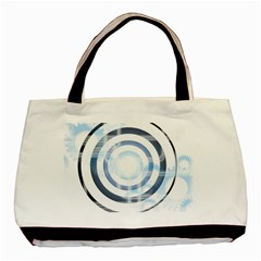 Center Centered Gears Visor Target Basic Tote Bag (two Sides)