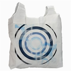 Center Centered Gears Visor Target Recycle Bag (two Side)