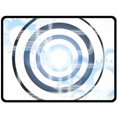 Center Centered Gears Visor Target Fleece Blanket (Large)
