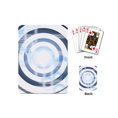 Center Centered Gears Visor Target Playing Cards (mini)