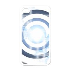 Center Centered Gears Visor Target Apple Iphone 4 Case (white)