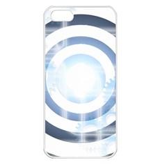 Center Centered Gears Visor Target Apple Iphone 5 Seamless Case (white)