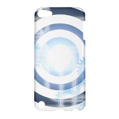 Center Centered Gears Visor Target Apple iPod Touch 5 Hardshell Case