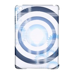 Center Centered Gears Visor Target Apple iPad Mini Hardshell Case (Compatible with Smart Cover)