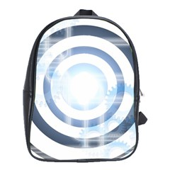 Center Centered Gears Visor Target School Bags (XL)