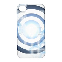 Center Centered Gears Visor Target Apple Iphone 4/4s Hardshell Case With Stand