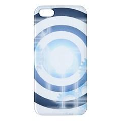 Center Centered Gears Visor Target Apple iPhone 5 Premium Hardshell Case