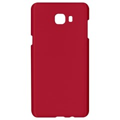 Usa Flag Red Blood Red Classic Solid Color  Samsung C9 Pro Hardshell Case