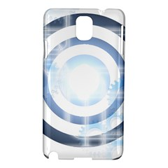 Center Centered Gears Visor Target Samsung Galaxy Note 3 N9005 Hardshell Case