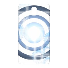 Center Centered Gears Visor Target Samsung Galaxy Note 3 N9005 Hardshell Back Case