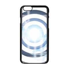 Center Centered Gears Visor Target Apple iPhone 6/6S Black Enamel Case