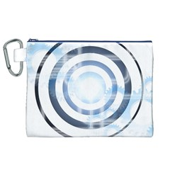 Center Centered Gears Visor Target Canvas Cosmetic Bag (XL)