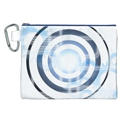 Center Centered Gears Visor Target Canvas Cosmetic Bag (xxl)
