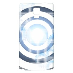 Center Centered Gears Visor Target Galaxy Note 4 Back Case
