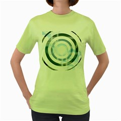 Center Centered Gears Visor Target Women s Green T Shirt