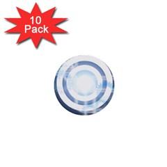 Center Centered Gears Visor Target 1  Mini Buttons (10 Pack)