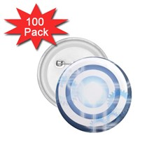 Center Centered Gears Visor Target 1 75  Buttons (100 Pack)
