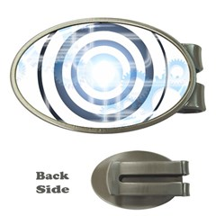 Center Centered Gears Visor Target Money Clips (Oval)