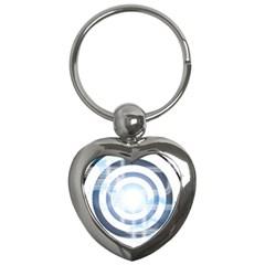 Center Centered Gears Visor Target Key Chains (heart)
