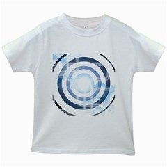 Center Centered Gears Visor Target Kids White T-Shirts